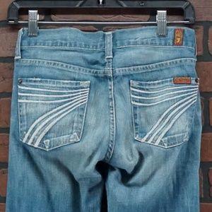 7FAM Dojo Bootcut Jeans Light Wash Size 25